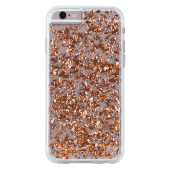 iPhone 6/6s Case-Mate Karat Case - Rose Gold & Clear