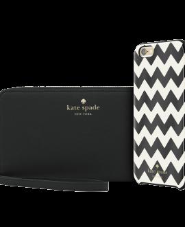 iPhone 6/6s Plus kate spade new york Gift Set: Chevron Case & Wristlet