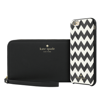 iPhone 6/6s Plus kate spade new york Gift Set: Chevron Case & Wristlet