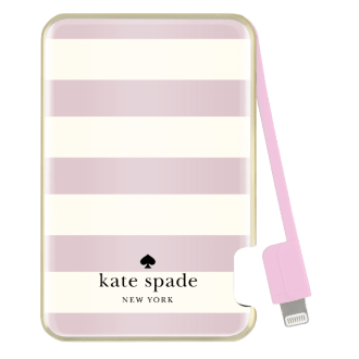 kate spade new york Charger with Lightning Cable - Blush Candy Stripe