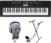 Casio - Portable Keyboard With 61 Piano-style Keys - Black