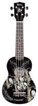 Woodrow - Denny Pittsburgh Penguins 4-string Soprano Ukulele - Black/silver/gold