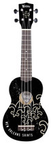 Woodrow - Denny New Orleans Saints 4-string Soprano Ukulele - Gold/black/white