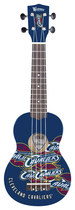 Woodrow - Denny Cleveland Cavaliers 4-string Soprano Ukulele - Blue/red/white/yellow