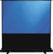 "Elite Screens - Ezcinema Series 100"" Portable Projector Screen - White/black"