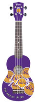 Woodrow - Denny Los Angeles Lakers 4-string Soprano Ukulele - Purple/white/yellow