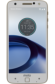 Moto Z Force Droid in White/Fine Gold