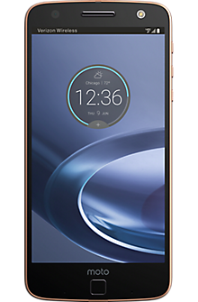 Moto Z Force Droid in Black/Rose Gold