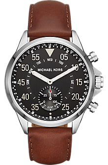 Access Hybrid Smartwatch - Gage Silver-tone and Leather