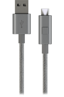 Micro USB Braided Charge-and-Sync Cable - Gray