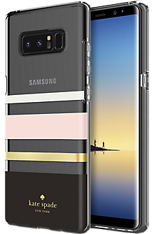 Flexible Hardshell Case for Galaxy Note8 - Charlotte Stripe Black