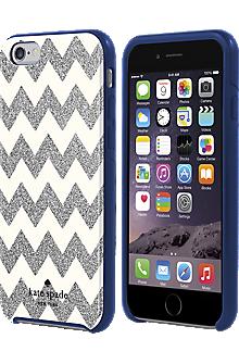 Flexible Hardshell Case for iPhone 6/6s - Chevron Silver Glitter