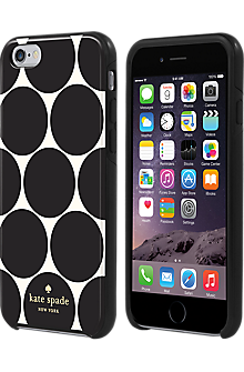 Flexible Hardshell Case for iPhone 6/6s - Oversized Dot Black