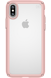 Presidio Show for iPhone X - Clear/Rose Gold
