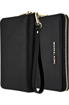 Saffiano Leather Large Multifunction Phone Case