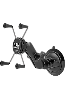 RAM Twist-Lock Suction Cup Mount with Universal X-Grip Large Phone/Tablet Cradle