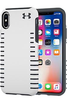 UA Protect Grip Case for iPhone X - White/Graphite