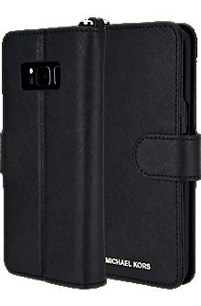 Saffiano Folio Phone Case for Galaxy S8+ - Black