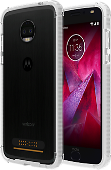 Two-Tone Bumper for moto z2 force edition - Clear/Clear