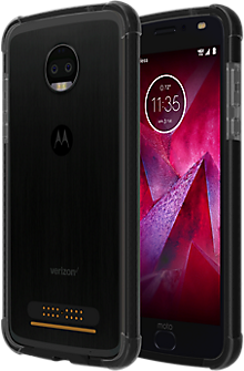 Two-Tone Bumper for moto z2 force edition - Black/Dark Gray