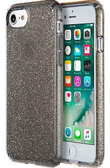 Presidio Clear Glitter Case for iPhone 7 - Onyx Black/Gold