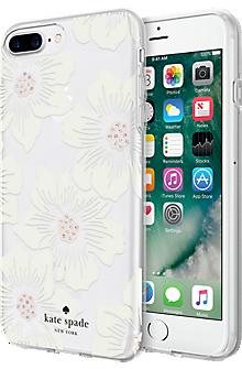 Flexible Hardshell Case for iPhone 8 Plus/7 Plus/6s Plus/6 Plus - Hollyhock Floral