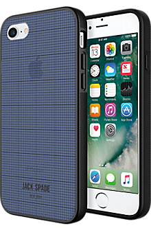 Clear Graph Check Case for iPhone 7 - Navy