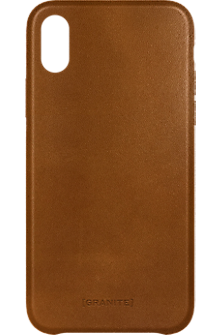 Genuine Leather Wrap case for iPhone X - Brown