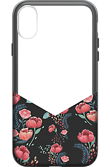 Suit Up Print case for iPhone X - Black Floral