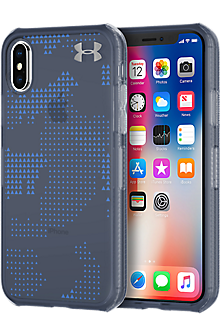 UA Protect Verge Case for iPhone X - Translucent Utility Midnight Navy/Mediterranean