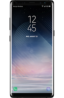 Curved Tempered Glass Display Protector for Galaxy Note8 - Black