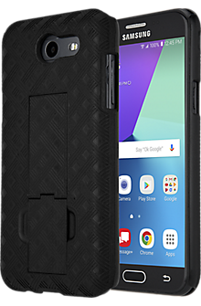 Shell Holster Combo for Galaxy J3 Eclipse - Black