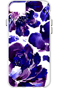 Purple Flower pattern Clear Case for iPhone 7/6s/6
