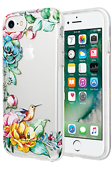 Placed Floral Clear Case for iPhone 7/6s/6 - Clear