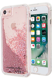 Waterfall Case for iPhone 8/7/6s/6 - Rose Gold/Clear