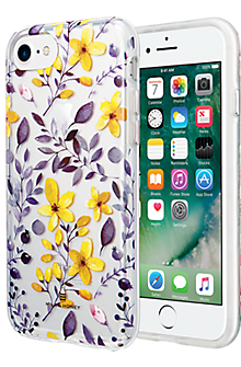 Multi Floral Clear Case for iPhone 7/6s/6 - Purple/Yellow