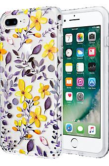 Multi Floral Clear Case for iPhone 7 Plus/6s Plus/6 Plus - Purple/Yellow
