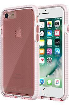 Evo Check Case for iPhone 8/7- Light Rose/White