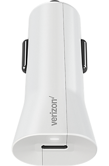 Car Charger with USB-C Port - White