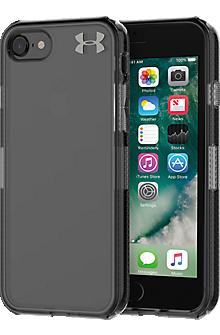 UA Protect Verge Case for iPhone 8/7 - Clear/Translucent Smoke/Gunmetal Logo