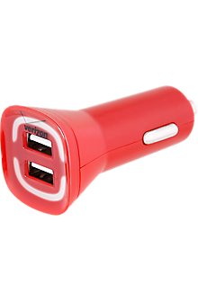 4.8A Vehicle Charger with Dual Output - Red