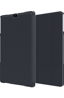 Folio Case & Tempered Glass Bundle for Ellipsis 8 HD - Blue
