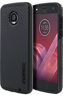 DualPro Case for Moto Z2 Play - Carbon Fiber/Black