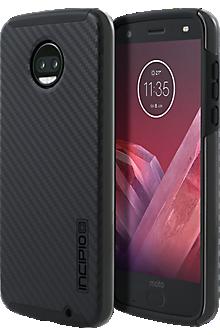 DualPro Case for moto z2 force edition - Carbon Fiber/Black