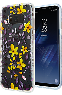 Multi Floral Clear Case for Samsung Galaxy S8+ - Purple/Yellow
