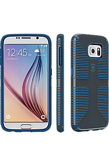 Speck CandyShell Grip for Samsung Galaxy S 6 - Charcoal Grey-Harbor Blue