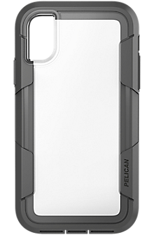 Voyager for iPhone X - Clear/Grey