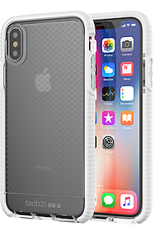 Evo Check for iPhone X - Clear/White