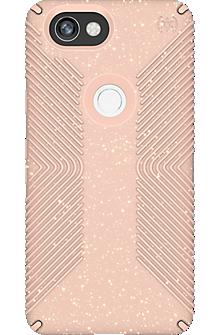 Presidio Grip + Glitter Case for Pixel 2 XL - Bella Pink With Gold Glitter/Dahlia Peach