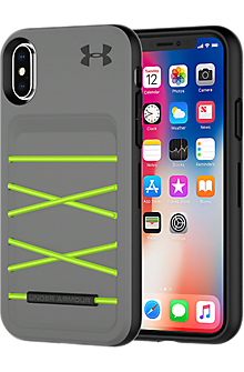 UA Protect Arsenal Case for iPhone X - Graphite/Quirky Lime
